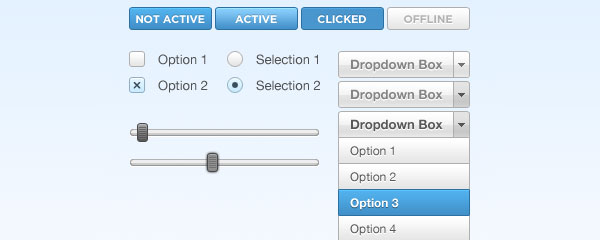 147 big Best of Free Clean PSD Buttons ready for web2.0