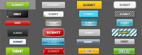 24 buttons Best of Free Clean PSD Buttons ready for web2.0