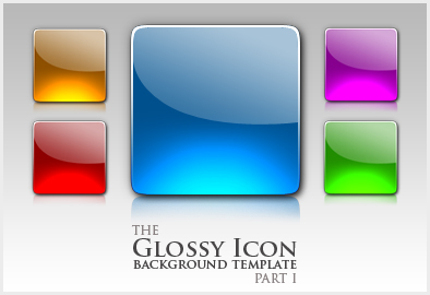 Glossy Icon template part I by niccey Best of Free Clean PSD Buttons ready for web2.0