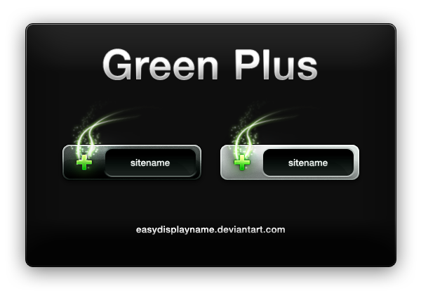 Green Plus by easydisplayname Best of Free Clean PSD Buttons ready for web2.0