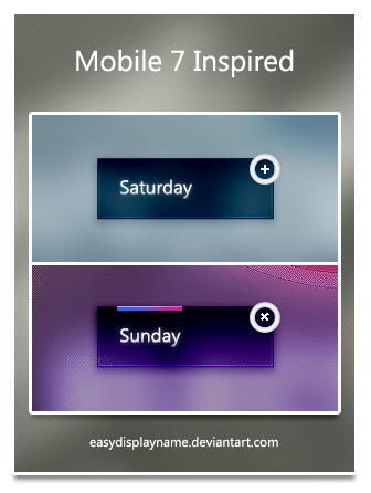 Mobile 7 Inspired by easydisplayname Best of Free Clean PSD Buttons ready for web2.0
