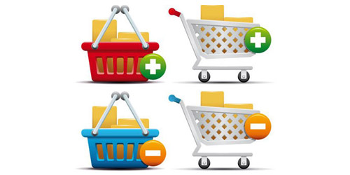 Shopping Cart and Basket Icons The Best High Quality Ecommerce Icons of the Web