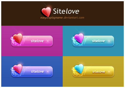 Sitelove Buttons by easydisplayname Best of Free Clean PSD Buttons ready for web2.0