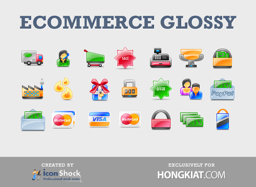 ecommerce glossy The Best High Quality Ecommerce Icons of the Web