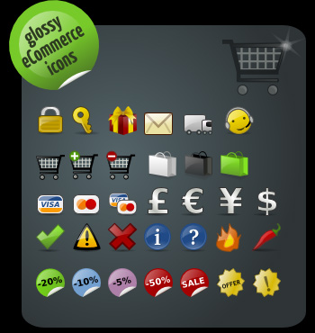 ecommerce icons 3 The Best High Quality Ecommerce Icons of the Web