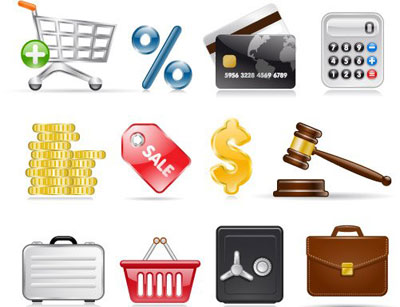 shopping and business icons1 The Best High Quality Ecommerce Icons of the Web
