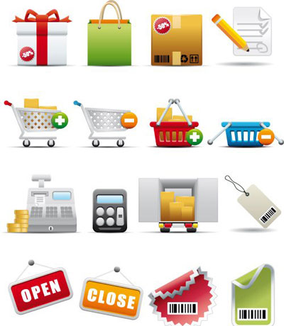 shopping and consumerism icon set1 The Best High Quality Ecommerce Icons of the Web