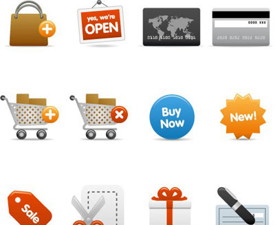 shopping icons3 The Best High Quality Ecommerce Icons of the Web