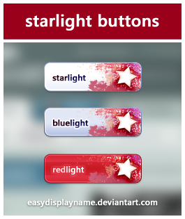 starlight buttons by easydisplayname Best of Free Clean PSD Buttons ready for web2.0