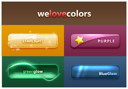 we love colors by easydisplayname Best of Free Clean PSD Buttons ready for web2.0