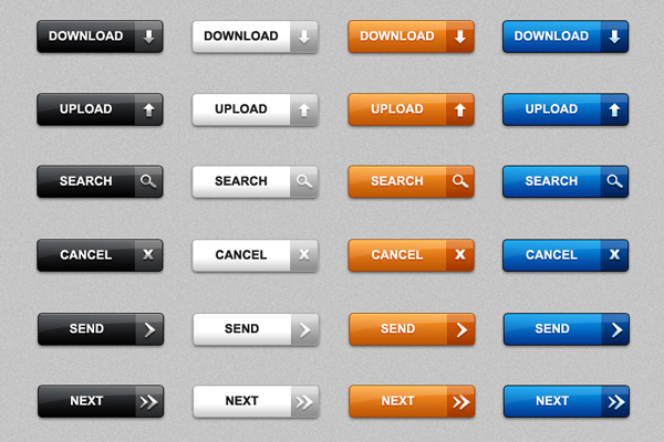 web buttons home Best of Free Clean PSD Buttons ready for web2.0