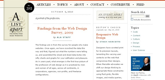 alistapart Photoshop, Webdesign & Wordpress. What you shouldnt have missed this week!