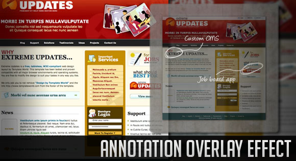 annotationoverlayeffect Photoshop, Webdesign & Wordpress. What you shouldnt have missed this week!