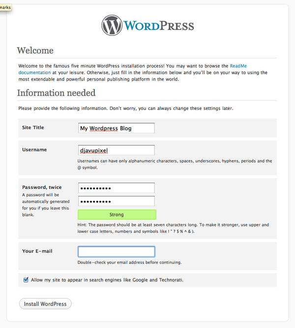 finised setup wordpress How to install Wordpress, configure it and secure it