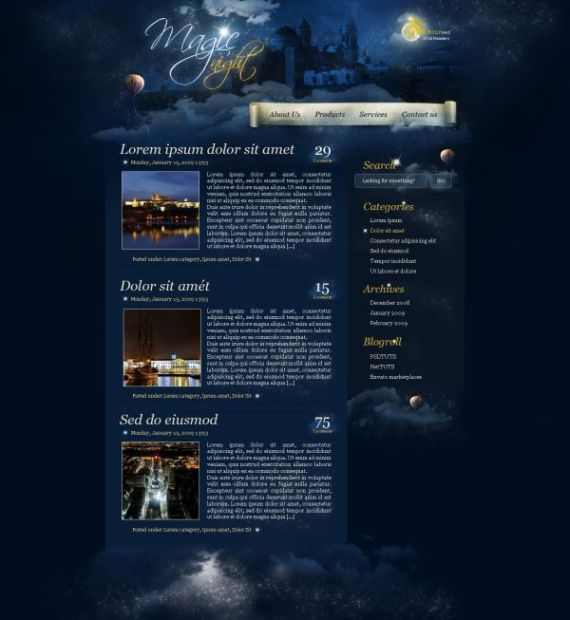 magic night themed web design Photoshop, Webdesign & Wordpress. What you shouldnt have missed this week!