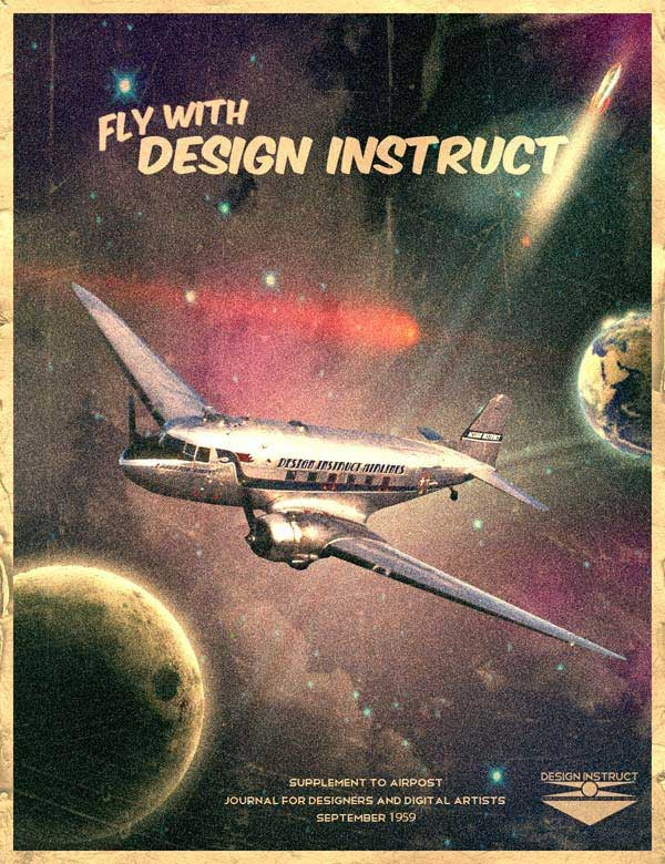vintage futuristic poster preview Photoshop, Webdesign & Wordpress. What you shouldnt have missed this week!