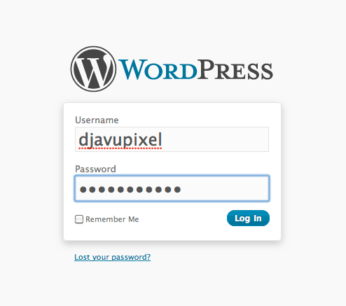 wordpress login How to install Wordpress, configure it and secure it