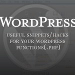useful wordpress snippets/hacks