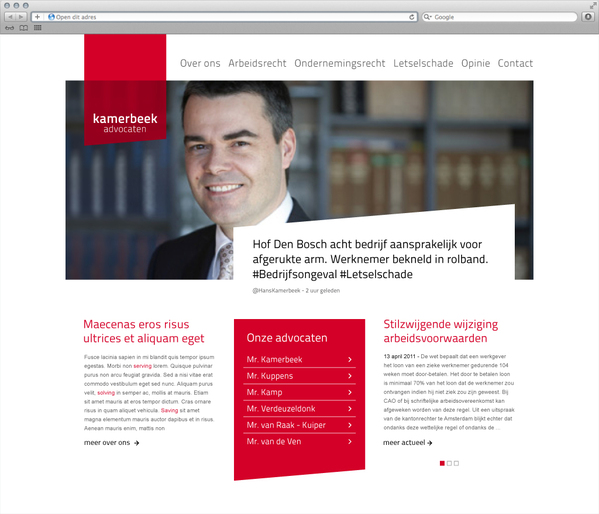 Kamerbeek Advocaten e 7 excellent examples of Corporate & Brand Identity for Law Firms